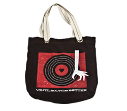 Vinyl Sounds Better Retro Tote (Black)